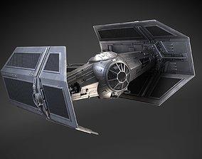 spacecraft Star Wars Tie Fighter Advanced 3D model