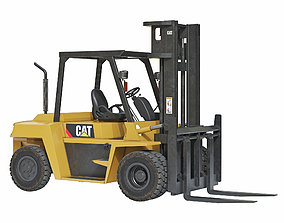 3D model CAT DP70 Forklift