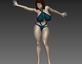 Female Anime Woman sculpture N 41 3D print model