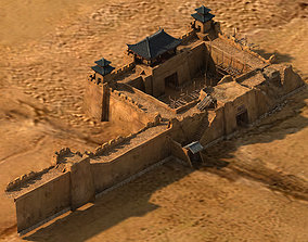 3D model Tang Journey to the West - Desert Architecture