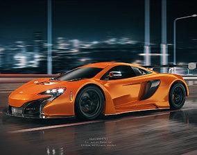 C4D Octane McLaren P1 render Highway racing city 3D