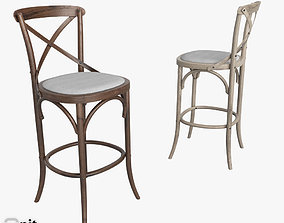 3D Madeleine Armless Stool by Restoration Hardware