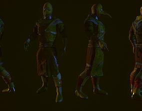 Plague doctor 3D asset