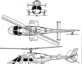 Bell 222 3D printable model
