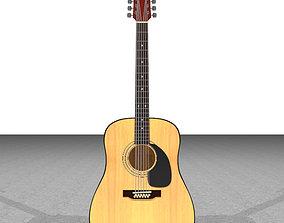 3D Acoustic 12 String Guitar - Cinema 4D Format