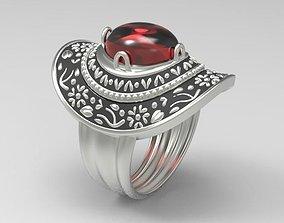 3D printable model Ring Women en hat