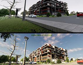 Cubic complex building 3D