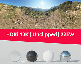HDRi - Trail Mountains and Landscape 3D model