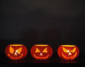 3 Jack o lantern Tealight 3D printable model