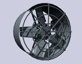 3D model Industrial exhaust fan