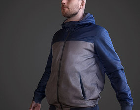 3D asset low-poly Casual Man arch