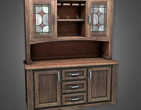 3D asset DVB - Old Wooden Cabinet - PBR Game Ready