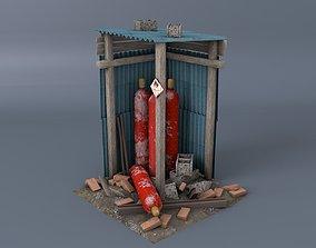 Scrap gas bottel asset low-poly