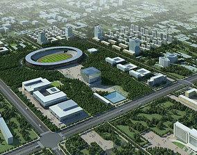 Exotic Stadium Exterior 3D model