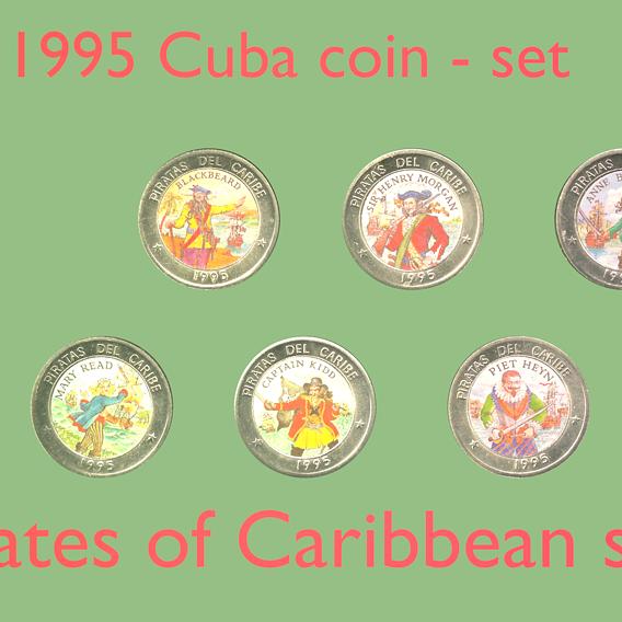 Pirates of Caribbean sea coin - set