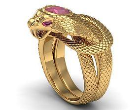 3D printable model ring ruby cobra