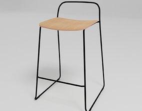 3D model AFI - Stackable sled base low stool -