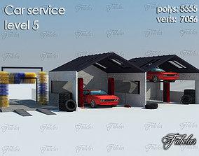 Car service level 3D asset
