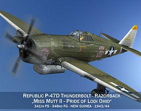 Republic P-47D Thunderbolt - Miss Mutt II 3D model