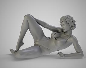 3D print model Girl Sitting on The Beach