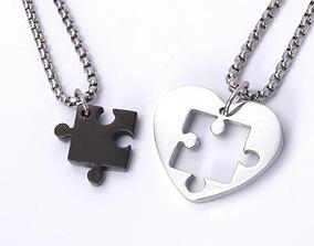 3D print model Heart Puzzle Necklace