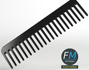 3D model Wide tooth comb
