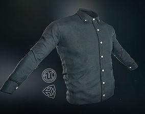 Black Shirt 3D asset