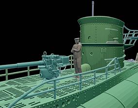 3D print model Submarine diorama