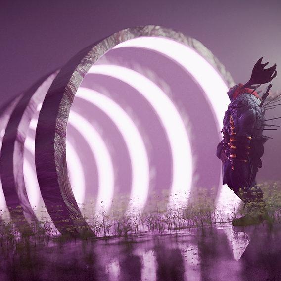 Sci-fi Portal Environment Scene