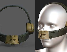 Gas mask respirator military Scifi futuristic 3D asset