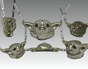 Baby yoda jewelry Pendant 3D printable model
