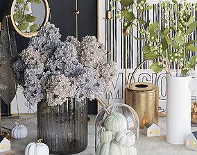 greens 3D Autumn decorative set