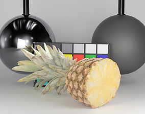 Top half of pineapple 31 3D asset