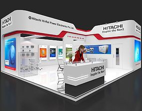 Exhibition stall 3d model 75 sq mtr 2 sides open 1