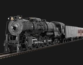 3D Santa Fe 3751 Steam Locomotive