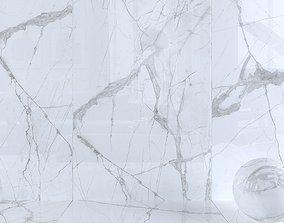 Wall Tiles Museum Glacier White Set 160x320 Set 3 3D
