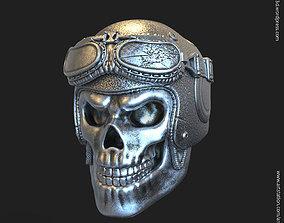 Biker helmet skull vol3 pendant 3D printable model