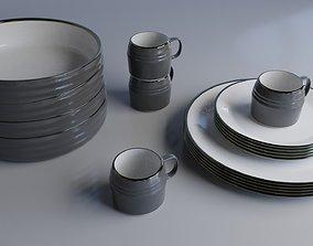 3D model PBR tea Dining set