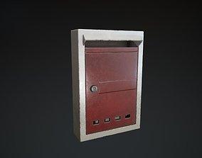 Letter Box 3D asset