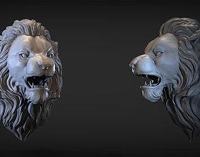 Angry Lion head 3D printable model