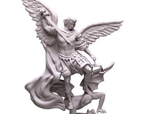 3D print model Saint Michael necklace