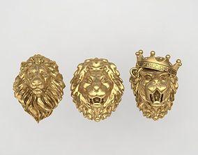 3D print model lion pendant