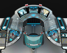 Shipboard control bridge industrial 3D