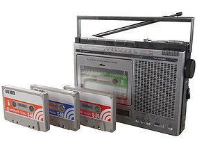 3D model HITACHI TRK-5450EX Cassette Recorder