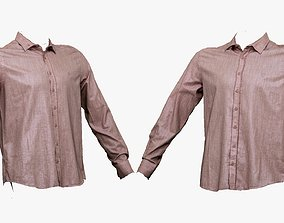3D asset 001285 pink mans t-shirt