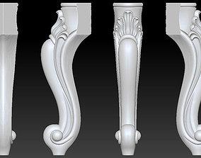 CABRIOLE CARVED Furniture Leg 3D Models set - 001