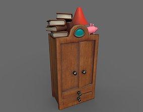 Cabinet Cartoon 3D asset