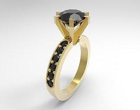 1 emerald ring 3D print model