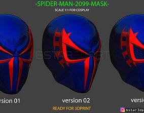 3D printable model Spider Man 2099 mask -Spider man 3