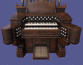 3D asset Antique Victorian Pump Pipe Organ